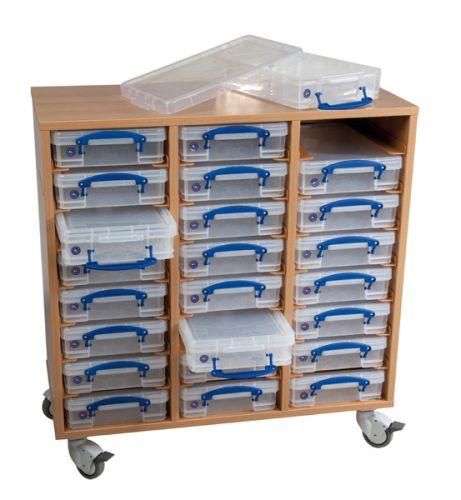 regalsystem mit 24 boxen. Black Bedroom Furniture Sets. Home Design Ideas