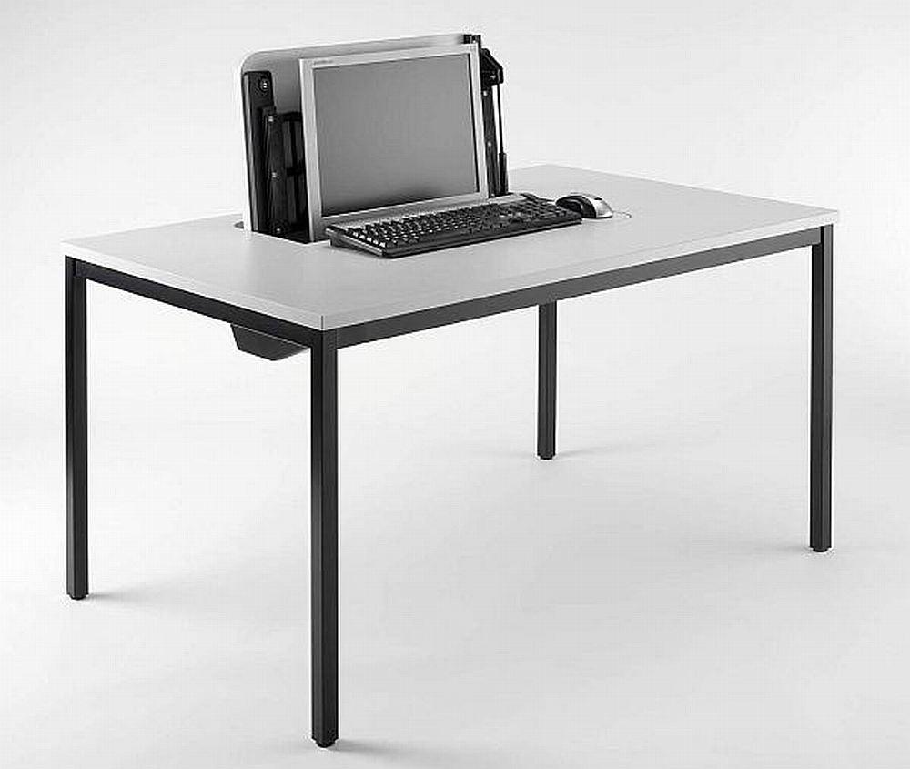 computertisch sa i magic versenkbarer monitor. Black Bedroom Furniture Sets. Home Design Ideas