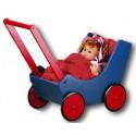 HABA Puppen - / Lauflernwagen, natur und blau