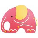Wandspiel Elefant