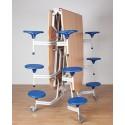 Spaceflex 2.0®, ovale Melaminplatte, 12 Sitze, für Kinder ab 11 Jahre