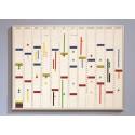 Jahreskalender 120 x 90 cm, inklusive Zubehör