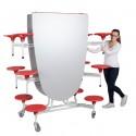"""Spaceflex 2.0®, ovale Vollkernplatte """"PowerSurf"""", 12 Sitze, für Kinder ab 11 Jahre"""