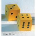 Schaumstoffwürfel-Set  (2 Stück), 12 cm hoch, beschichtet