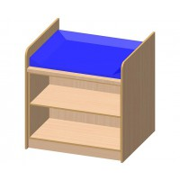 Kompakte Kommode mit offenem Regal, inklusive Wickelauflage