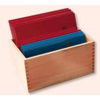 Holz-Sortierbox für Fühlbuchstaben