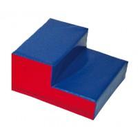 2-stufige Treppe, blau-rot