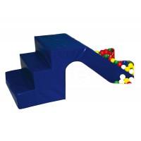 Treppenrutsche blau/gelb