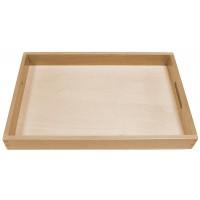 Einfach Holztablett´s für die Arbeiten mit den Montessori-Materialien
