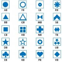 Die Symbole sind auf selbstklebende Klarsichtfolie gedruckt und sind als Ergänzung zu den farbigen bzw. halbfarbigen Magnetsymbolen gedacht.