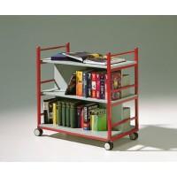 Buchwagen, beidseitig bestückbar