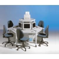 Computerinsel mit 6 Arbeitsplätzen