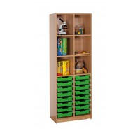 Ergo Tray Klassenraumregal mit 16 Schüben, Schübe wahlweise in 5 Farben