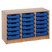 Ergo Tray Klassenraumregal mit 18 Schüben, Schübe wahlweise in 5 Farben