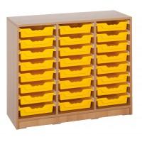 Ergo Tray Klassenraumregal mit 24 Schüben, Schübe wahlweise in 5 Farben