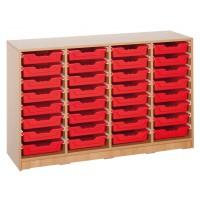 Ergo Tray Klassenraumregal mit 32 Schüben, Schübe wahlweise in 5 Farben
