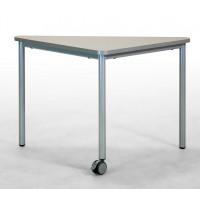 Tisch fahrbar, 1 kurzes Beine mit Leichtlaufrolle, 2 lange Beine
