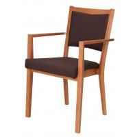 Armlehnstuhl,stapelbar Gestell Buche massiv,verzapft und verleimt