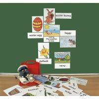 Spielerisch die Fremdsprache Englisch erlernen - 16 farbenkräftige Bildkarten,  16 Wortkarten, Rückseite mit Magneten