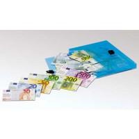 Banknotensatz mit 46 Banknoten (Geldscheinen), magnethaftend