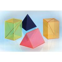 Geometrieset 2, Geometrische Körper aus gefärbtem Acrylglas