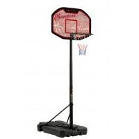 Mobile Basketballkorb-Anlage in verstellbarer Höhe mit offiziellen Turniermaßen, geeignet für jugendliche und erwachsene Spieler.