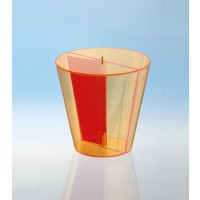 Modell J3003-1a12 Geometrische Körper aus gefärbtem Acrylglas.
