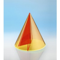 Modell J3003-1a13, Geometrische Körper aus gefärbtem Acrylglas.