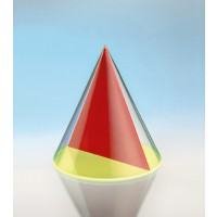 Modell J3003-1a24,  Geometrische Körper aus gefärbtem Acrylglas.