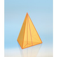 Modell J3003-1a3, Geometrische Körper aus gefärbtem Acrylglas.