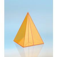 Modell J3003-1a4, Geometrische Körper aus gefärbtem Acrylglas.