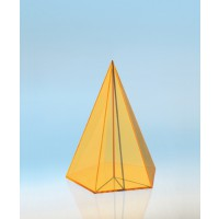 Modell J3003-1a5, Geometrische Körper aus gefärbtem Acrylglas.