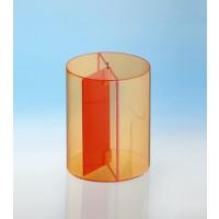 Modell J3003-a11, Geometrische Körper aus gefärbtem Acrylglas.