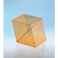 Modell J3003-a8,  Geometrische Körper aus gefärbtem Acrylglas.