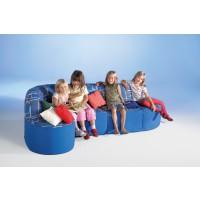 Gemütliches und formschönes Kindersofa, Farbkombination wie abgebildet