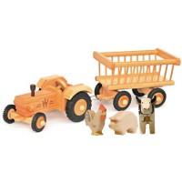 Traktor und Heuwagen