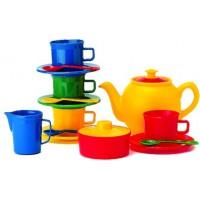 buntes Teeservice für 4 Kinder