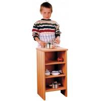 Nostalgie-Küchen-Regal, aus Erlenholz