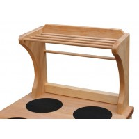 Anbauregal - aus Erlenholz geölt - zum anschrauben an alle Küchenmöbel