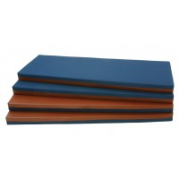 Liegepolster wahlweise Jensstoff balu/Kunststoff braun oder Jeansstoff blau/Kunstleder rot
