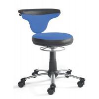 Drehhocker, Stoff/Softex-Kombination in blau