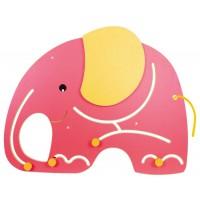 Wandspiel Elefant zur Förderung der Motorik