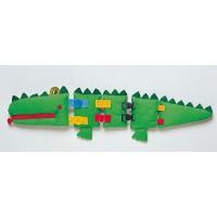 Lern - Krokodil, öffnen und schließen von Reißverschluss, Knöpfen, Schnallen, Klipsern