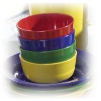 "Kompottschale hoch ""Italien"", rot, blau, grün, gelb"