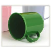 """grüner Henkelbecher """"Italien"""",Durchmesser 7,5 cm, Höhe 8,5 cm, 0,2 Liter"""