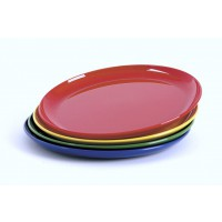 Frühstücksteller, Durchmesser 19 cm, rot