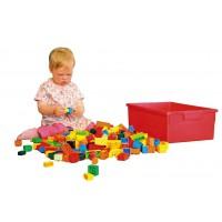 330 Bausteine (bunt gemischt) in Kunststoffbox