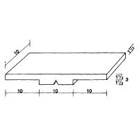 Lehrermagnet MS 10x30, für den Klassenplan 10 x 30 x 3 mm, halb farbig/halb weiß