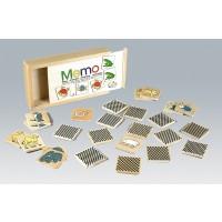 Kleines Tier-Memo 32-teiliges Set, Motive aus der bekannten Tierwelt, dem Kinderauge ansprechend dargestellt.
