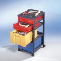 Fahrbarer Musikwagen mit farbigen Boxen (wie Abbildung)